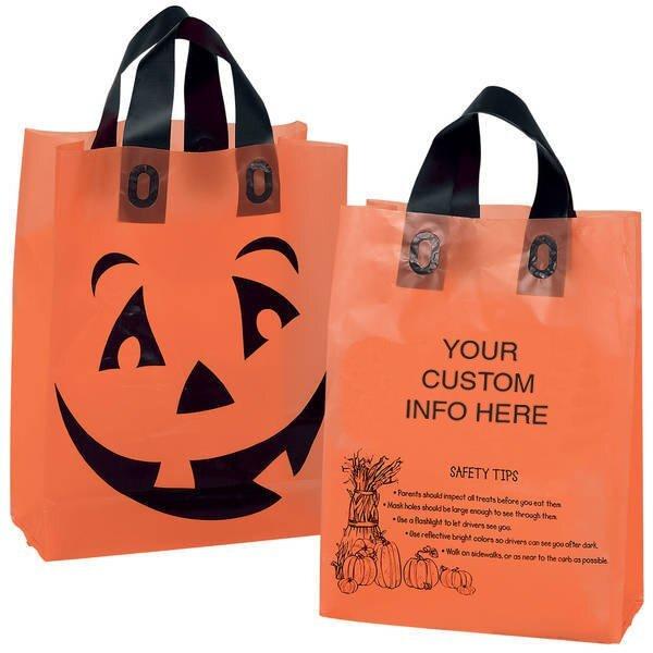 "Halloween Orange Frosted Pumpkin Shopper, 10"" x 13"""