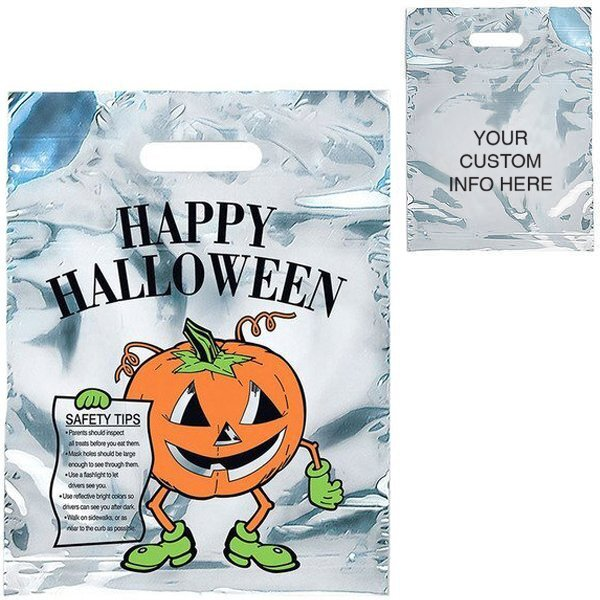 "Reflective Halloween Pumpkin Bag, 11"" x 15"""