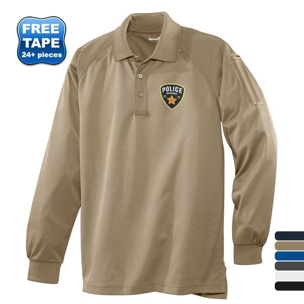 CornerStone® Select Snag-Proof Tactical Men's Performance Long Sleeve Polo
