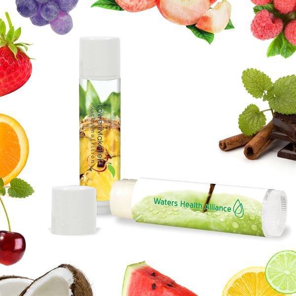 Fabulous Flavors Lip Balm in White Tube, SPF-15, Full Color Imprint