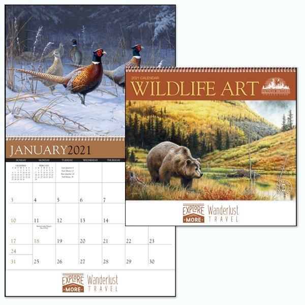 Hautman Brothers Wildlife Art Calendar