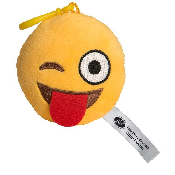 Wink Wink Emoji Plush Key Chain