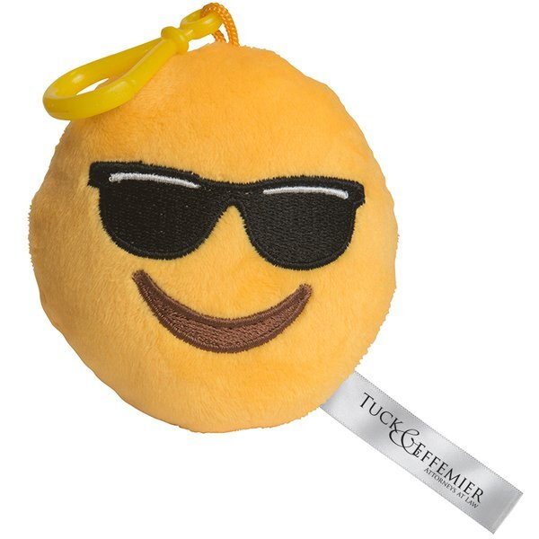Mr. Cool Emoji Plush Key Chain