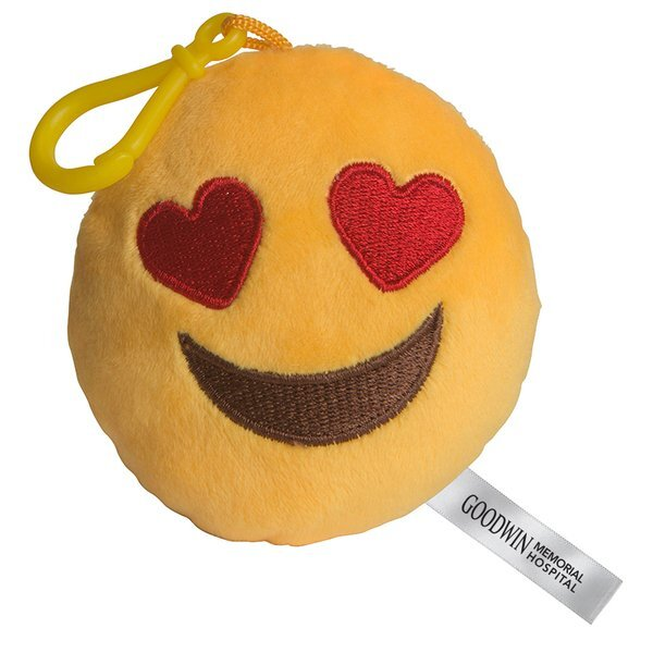 I Love You Emoji Plush Key Chain