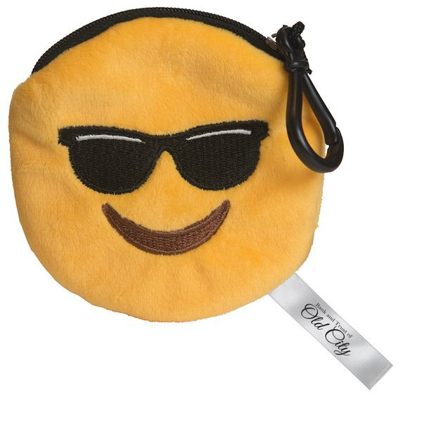 Mr. Cool Emoji Plush Pouch