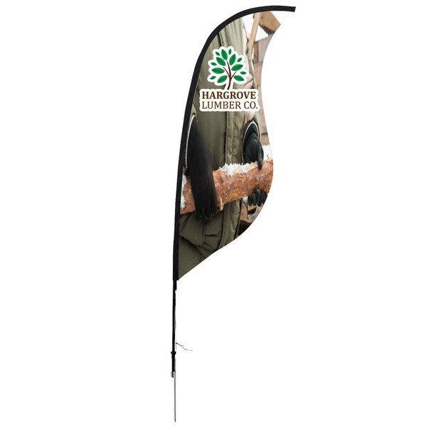 Sabre Sail Sign Banner Kit - Single-Sided, Spike Base