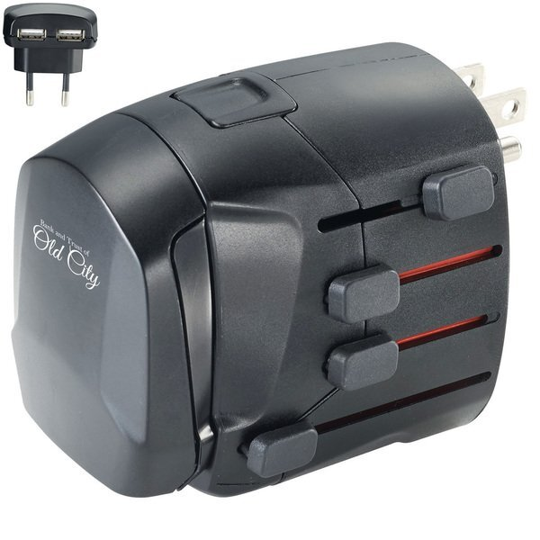 SKROSS® PRO+ Dual USB  World Travel Adapter; 2100mAh