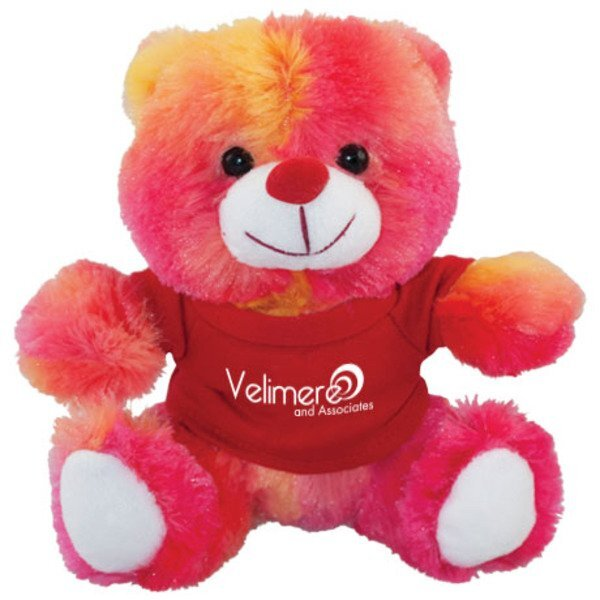 Colorful Raspberry Plush Bear