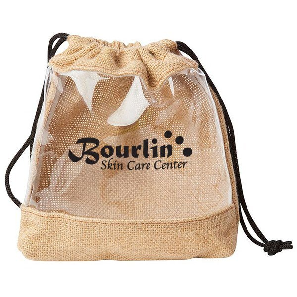 Clear Jute Drawstring Pouch