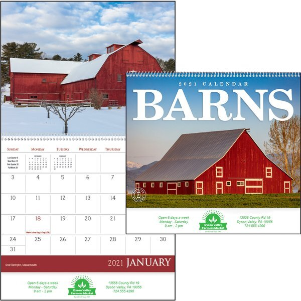 Barns Wall Calendar