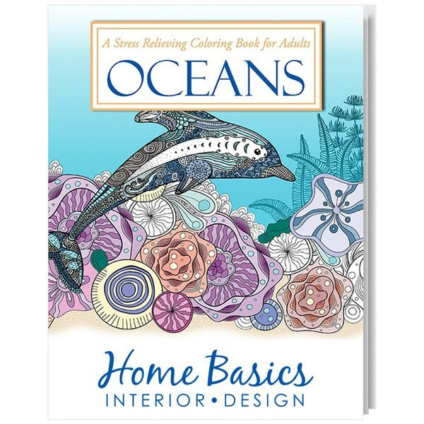 Adult Coloring Book, Oceans Theme