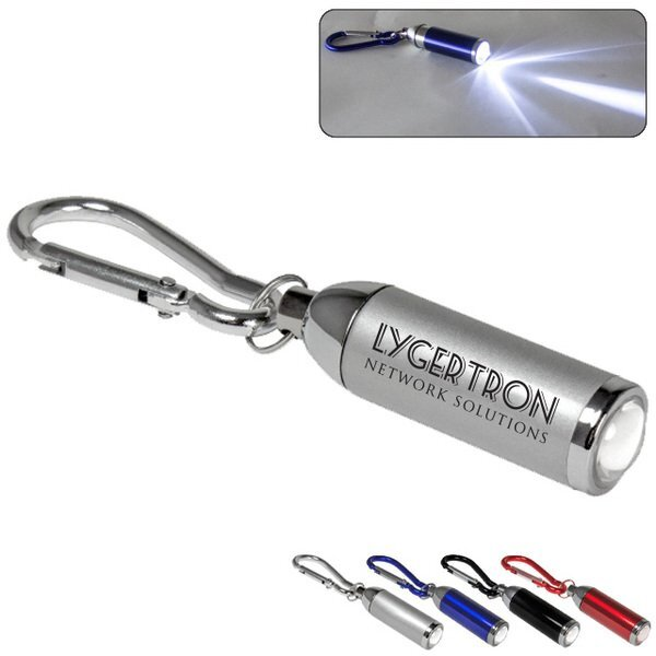 Adjustable Focus LED Light w/Metal Carabiner