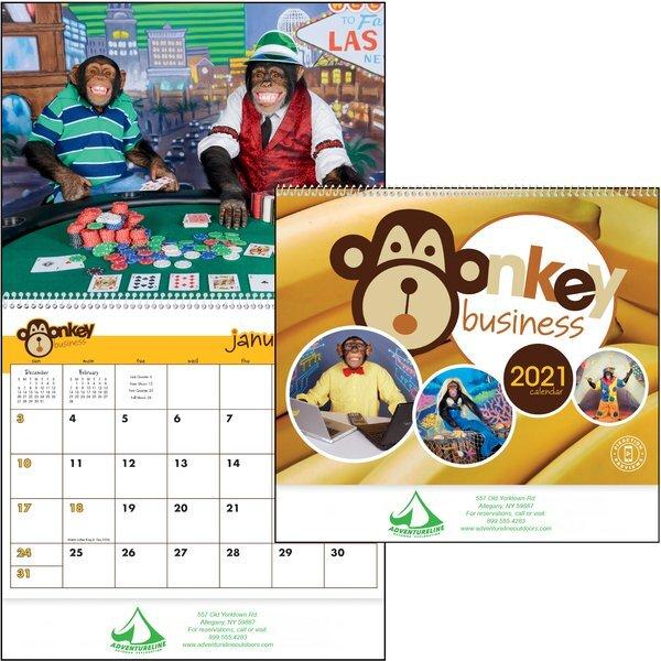 Monkey Business Wall Calendar