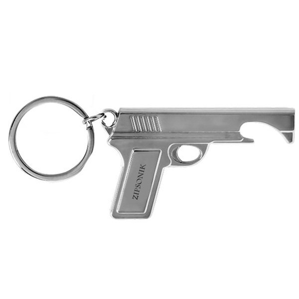 Gun Bottle Opener Keychain