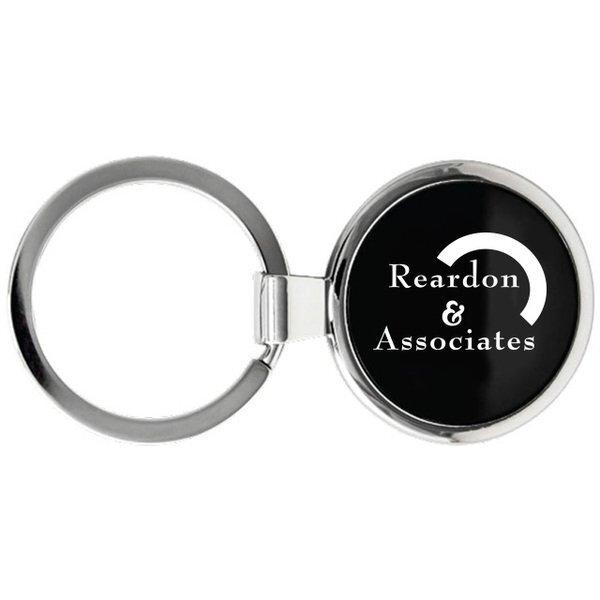 Simple Round Metal Keychain