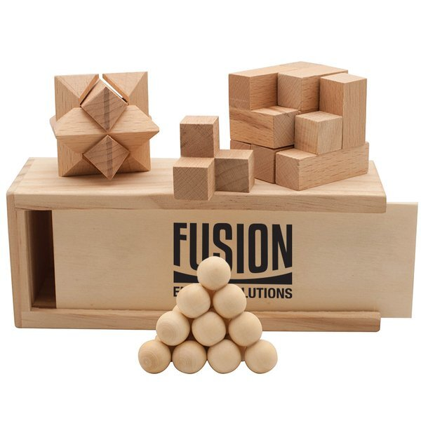 Wooden Puzzle 3-in-1 Boxed Set