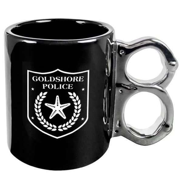 Black and Gunmetal Handcuff Mug