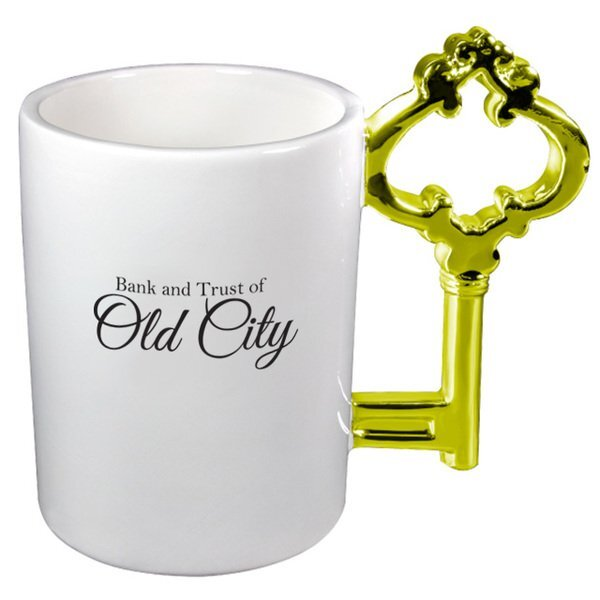 Gold Key Ceramic Mug