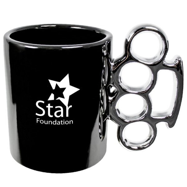 Black and Silver Knuckles Mug