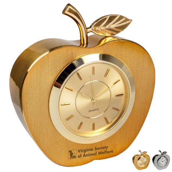 Metal Apple Desk Clock
