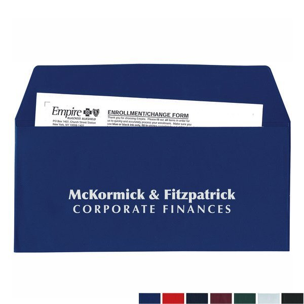 Envelope Shape Vinyl Document Pouch
