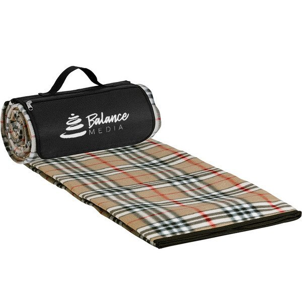 "Roll-Up Picnic Blanket, Tartain Plaid, 59"" x 53"""