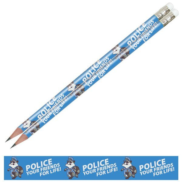 Police Your Friends For Life Full Color Pencil, Stock