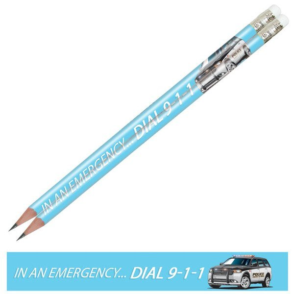 In an Emergency... Dial 9-1-1, Full Color Pencil, Stock