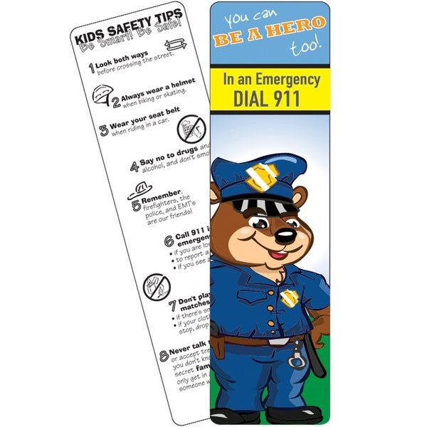 In an Emergency Dial 911 Bookmark, Stock