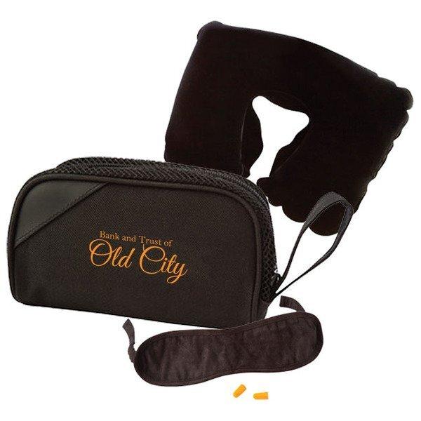 First Class Neck Pillow & Eye Mask Travel Set