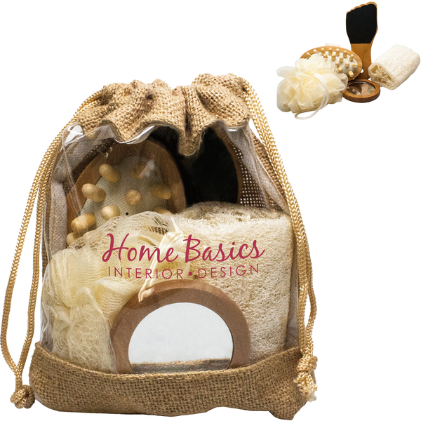Jute Bath & Spa Accessory Kit