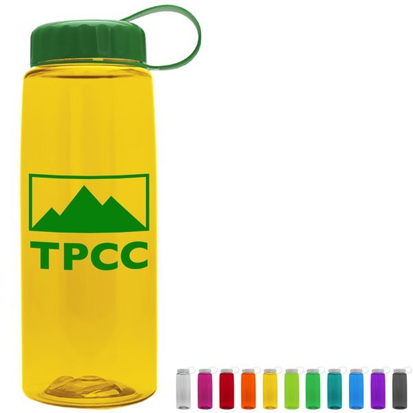 Flair Tritan™ Wide Mouth Sports Bottle, 26oz. - Tethered Lid