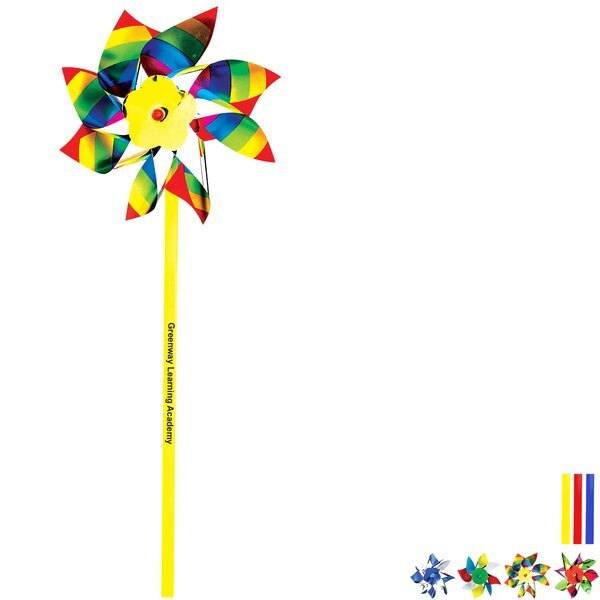 Bright Multi-Colored Pinwheel, 4""