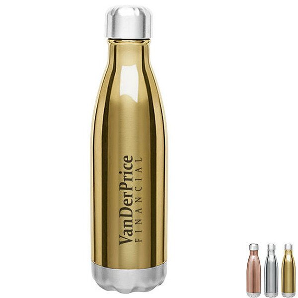 Force Stainless Steel Metallic Copper Lined Thermal Bottle, 17oz.