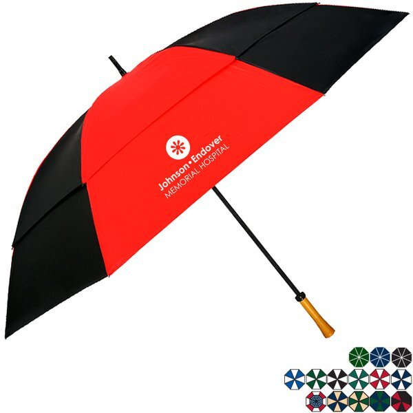 "Manual Open Golf Umbrella, 64"" Arc"