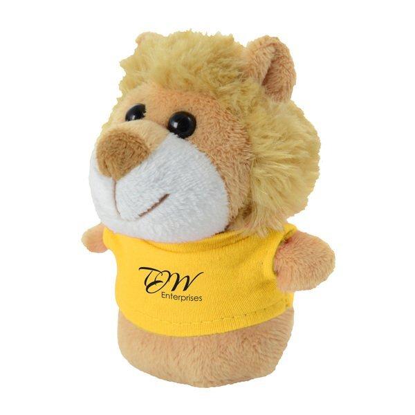 "Shorties Plush Lion, 4"""