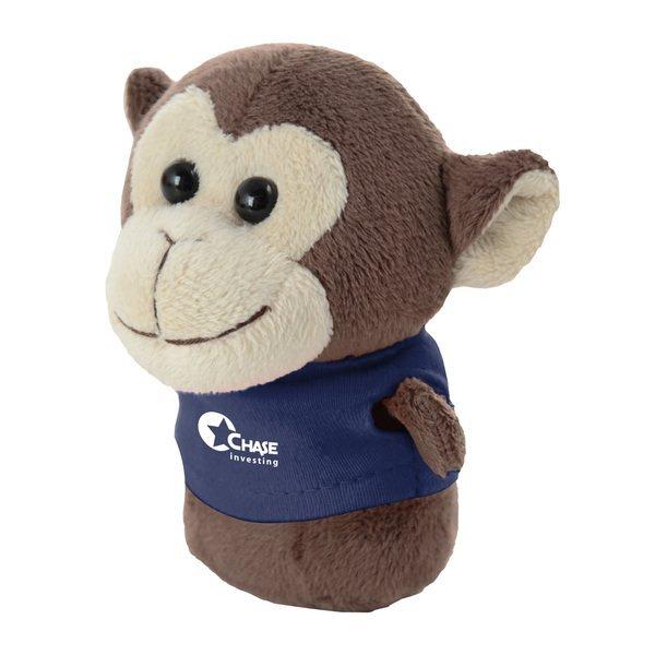 "Shorties Plush Monkey, 4"""