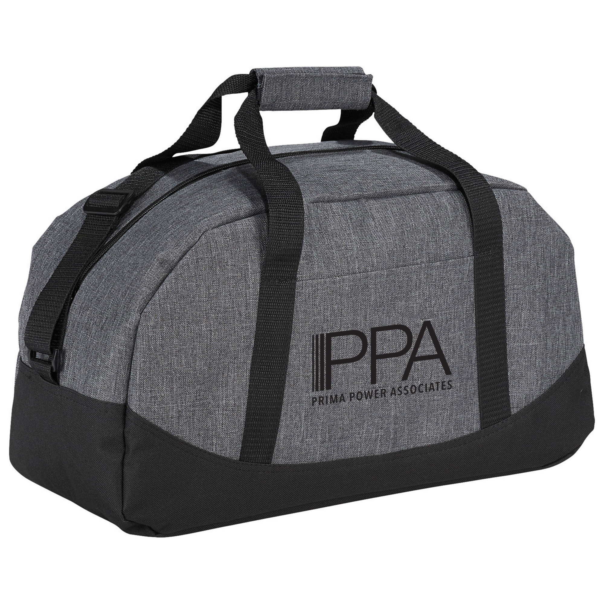 Graphite Polycanvas Gym Duffel Bag, 18""