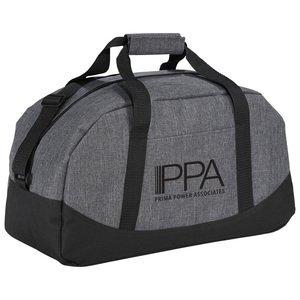"Graphite Polycanvas Gym Duffel Bag, 18"""