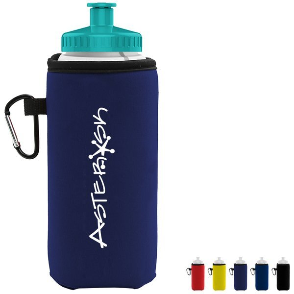 Sports Bottle and Carabiner Insulator Caddy, 16oz.