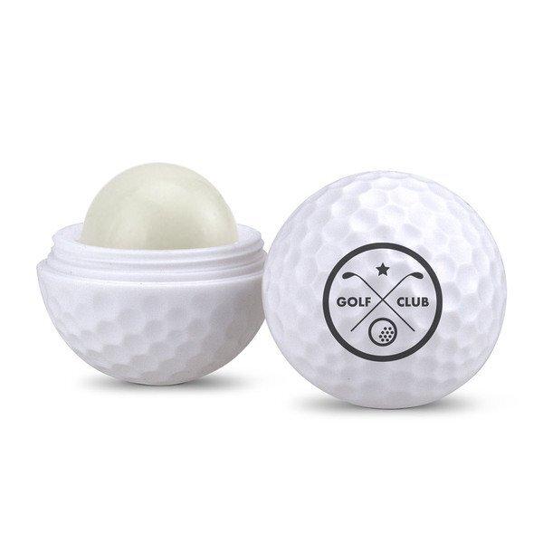 Golf Ball Shaped Lip Balm, SPF-15