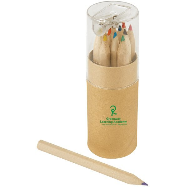 Colored Pencil 12-Piece Set in Tube w/ Sharpener