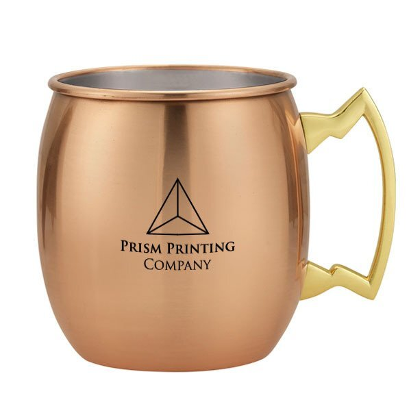 Dutch Stainless Steel Copper Plated Moscow Mule Mug, 20oz.