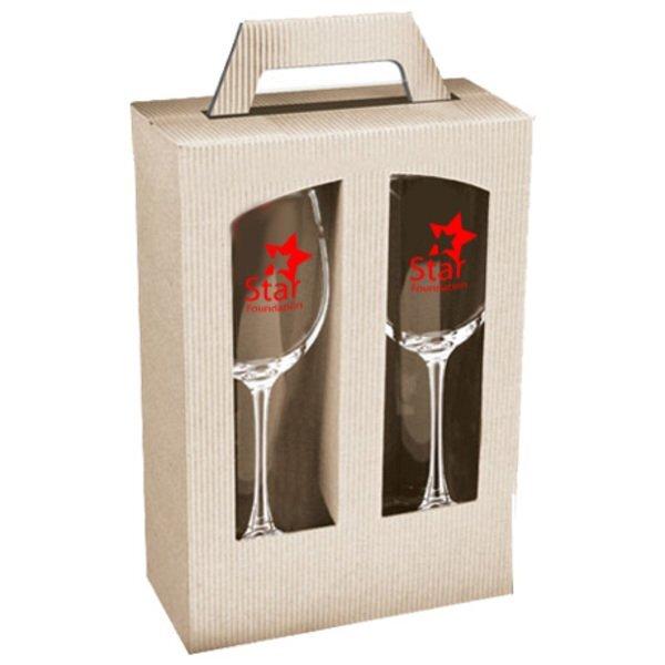 Kraft Wine Glass Gift Set