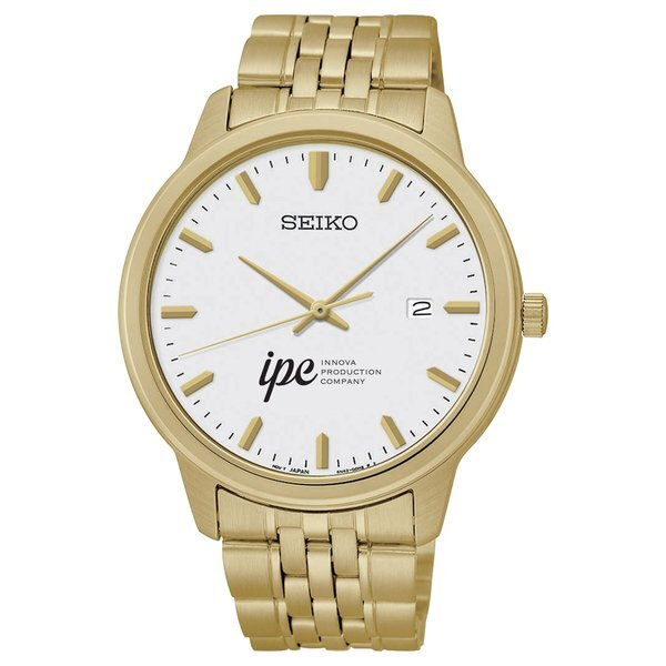 Seiko® Prime Men's Gold Stainless Steel Watch