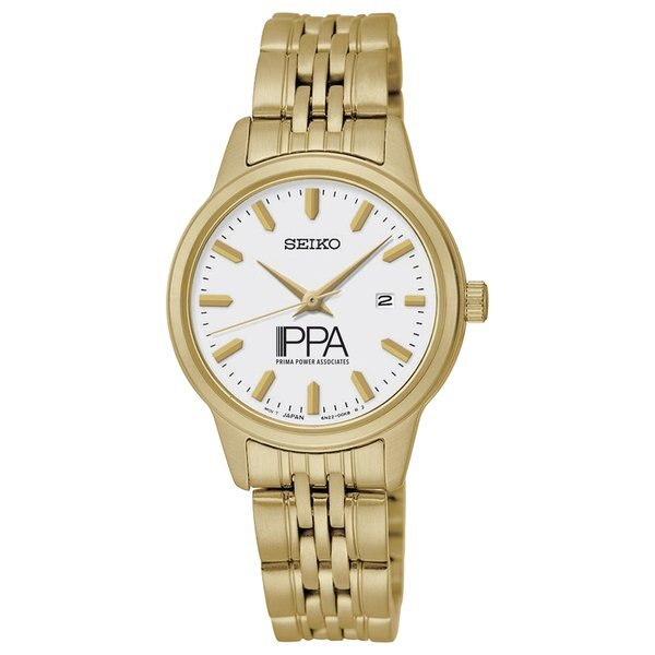 Seiko® Prime Ladies' Gold Stainless Steel Watch