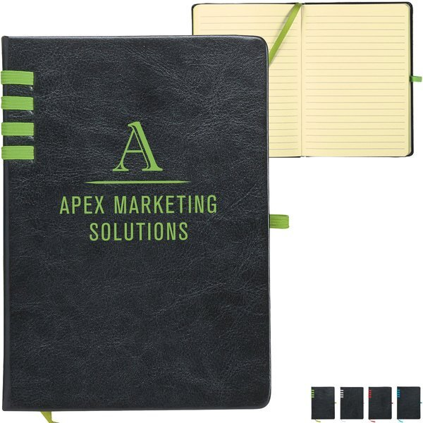Trendy Leatherette Journal w/ Bright Accents