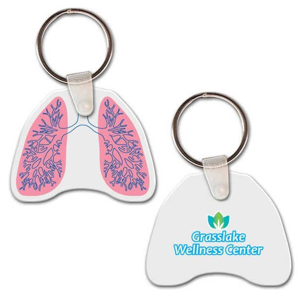 Lungs Soft Vinyl Key Tag