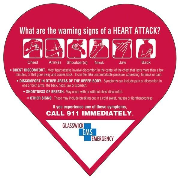 Heart Attack Warning Signs Mega-Mag™