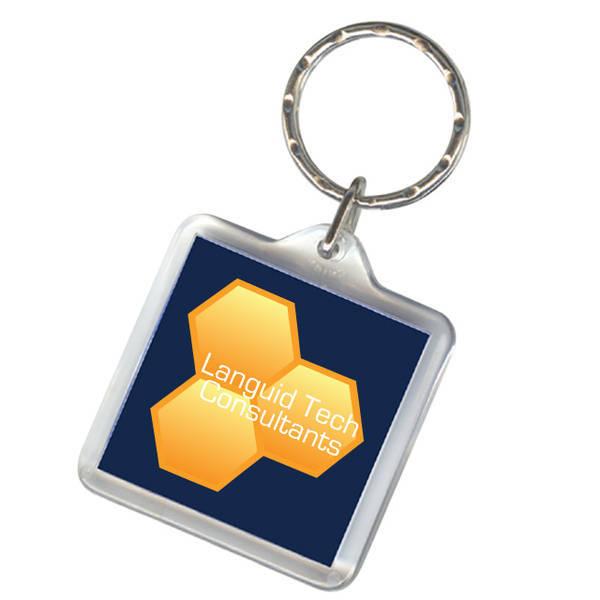 Square Acrylic Key Tag